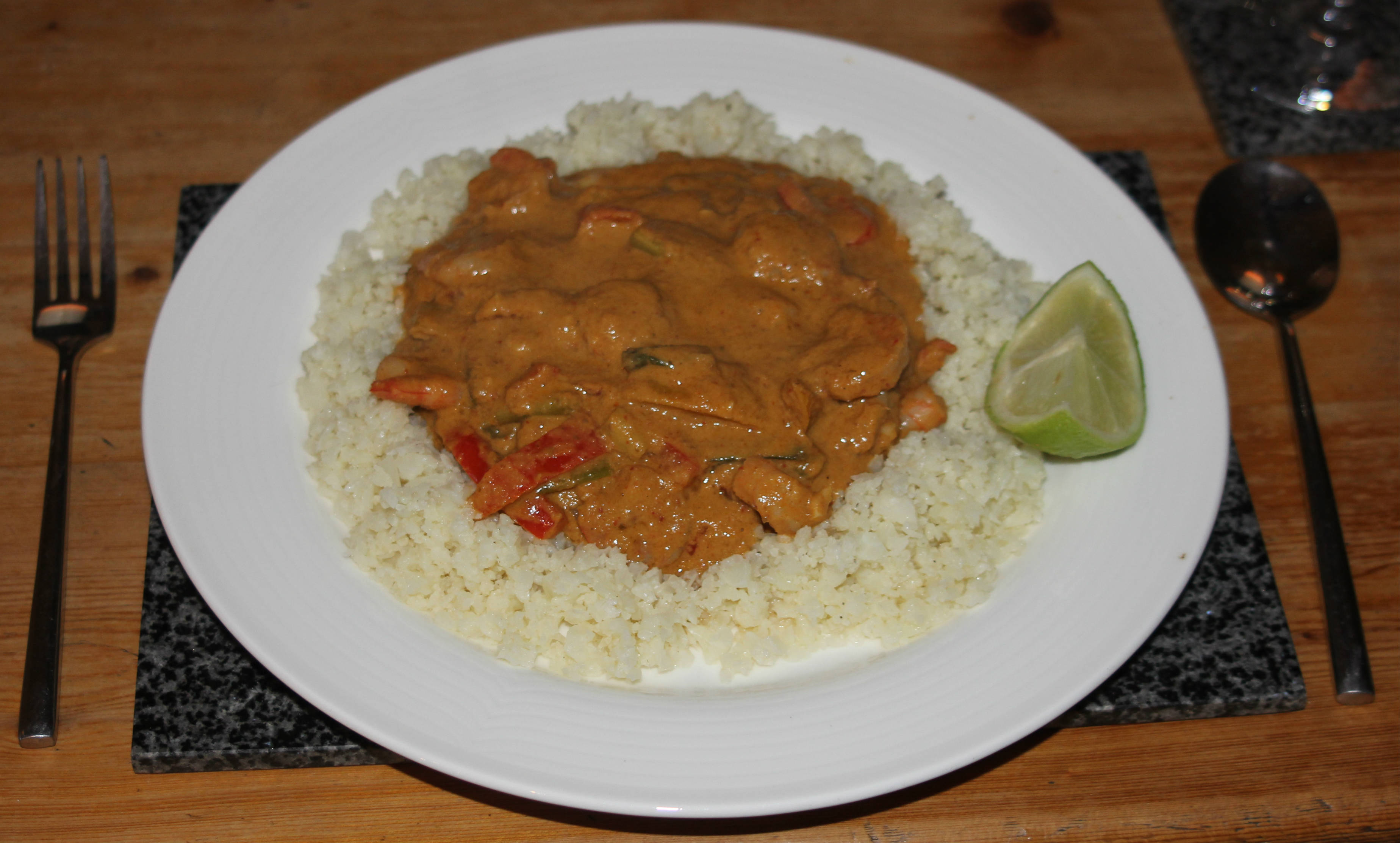 Simple Thai prawn curry 8